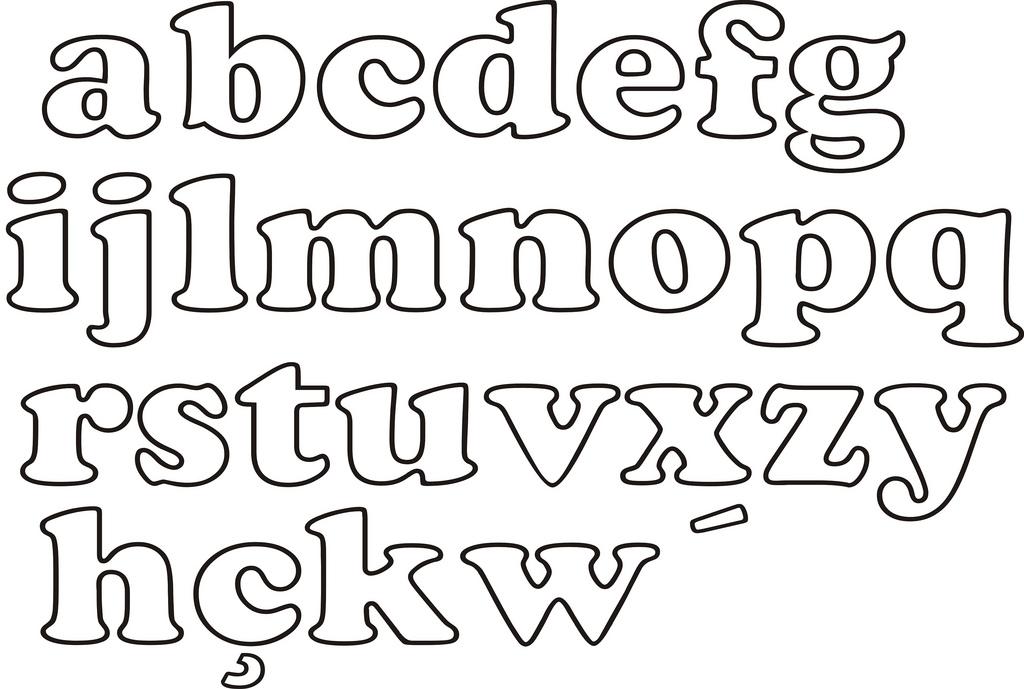 Moldes de letras grandes cursivas - Imagui